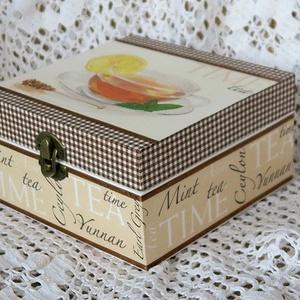 Teafilter tartó doboz, négy részes (Papirtorpe) - Meska.hu
