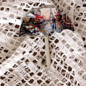 Esernyő alakú hűtőmágnes, Konyhafelszerelés, Otthon & lakás, Hűtőmágnes, Decoupage, transzfer és szalvétatechnika, Egy dekoratív hűtőmágnest készítettem, ami különleges dísze lehet a konyhádnak. Esernyú alakú falapo..., Meska