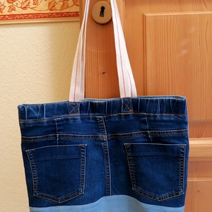 Farmerszatyor, Táska & Tok, Bevásárlás & Shopper táska, Shopper, textiltáska, szatyor, Varrás, Meska