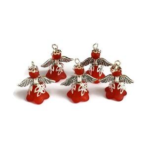Angyalka - 5 db-os csomag - piros (papmelus) - Meska.hu