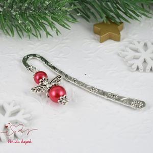 Piros angyalkás könyvjelző - antik ezüst (papmelus) - Meska.hu