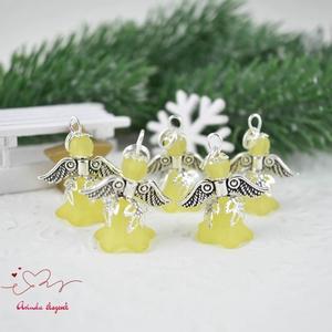 Sárga angyalka medál ajándékkísérő 5 dbos csomag (papmelus) - Meska.hu
