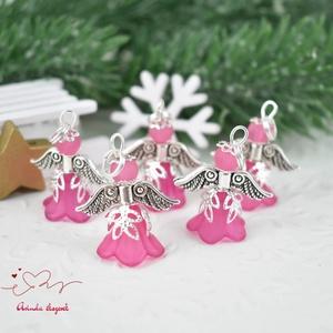 Pink angyalka medál ajándékkísérő 5 dbos csomag (papmelus) - Meska.hu