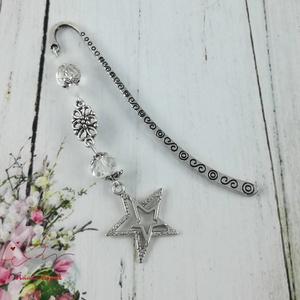 Szikrázó csillagok könyvjelző fehér és kristály gyöngyökkel - antik ezüst (papmelus) - Meska.hu