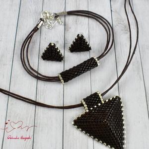 Csoki háromszög nyaklánc fülbevaló karkötő szett (papmelus) - Meska.hu