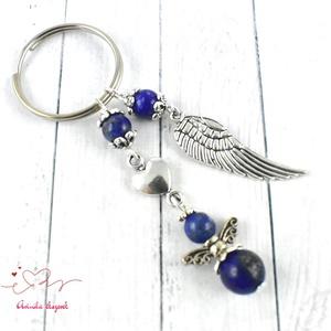 Lápisz lazuli angyal ásvány kulcstartó anyák napja ballagás évzáró pedagógus karácsony szülinap névnap  (papmelus) - Meska.hu