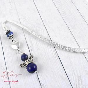 Lápisz lazuli angyal ásvány könyvjelző anyák napja ballagás évzáró pedagógus karácsony szülinap névnap  (papmelus) - Meska.hu