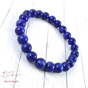 Lápisiz lazuli ásvány karkötő anyák napja ballagás évzáró pedagógus karácsony szülinap névnap  (papmelus) - Meska.hu