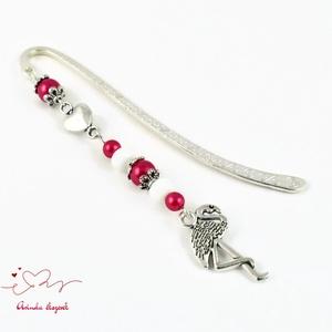 Piros flamingó könyvjelző anyák napja ballagás évzáró pedagógus karácsony szülinap névnap könyvmoly ajándék (papmelus) - Meska.hu