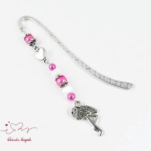 Rózsaszín flamingó könyvjelző anyák napja ballagás évzáró pedagógus karácsony szülinap névnap könyvmoly ajándék (papmelus) - Meska.hu