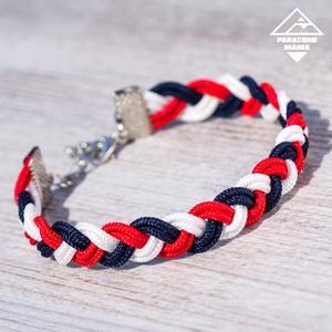 - Kaméleon - microcord karkötő vitorlás színekben, Fonott karkötő, Karkötő, Ékszer, Csomózás, Ékszerkészítés, Divatos és nőies karkötő, amely három különböző színű microcord szálból áll, szélessége 10 mm. 12 mm..., Meska