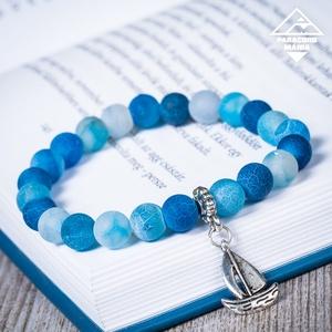 - Pegazus - ásvány karkötő kék achát (paracordmania) - Meska.hu