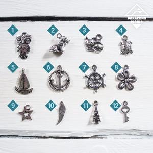 - Pegazus - ásvány karkötő kék-fehér (paracordmania) - Meska.hu
