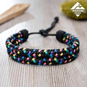 - Twin Cord - állítható méretű karkötő, Disco színváltozatban, Ékszer, Fonott karkötő, Karkötő, Különleges PPM cord alapanyagból készülő karkötő változatos színekben. Két egymással párhuzamosan fu..., Meska