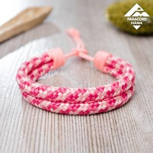 - Twin Cord - állítható méretű karkötő, rózsaszín/pink színváltozatban, Ékszer, Fonott karkötő, Karkötő, Különleges PPM cord alapanyagból készülő karkötő változatos színekben. Két egymással párhuzamosan fu..., Meska