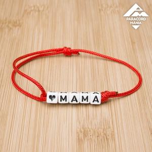 - Mama - egyedi betűs állítható méretű paracord karkötő , Monogramos & Névkarkötő, Karkötő, Ékszer, Csomózás, Ékszerkészítés, Lepd meg édesanyád, nagymamád egy anyák napi karkötővel.\n\n♥MAMA szöveg szabadon módosítható, az aláb..., Meska