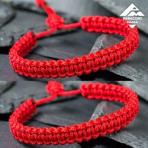 - Red Shield kobra - páros védelem karkötő (2 db), Ékszer, Fonott & Szövött karkötő, Karkötő, Páros karkötő = kedvezőbb ár  A vörös szín immunissá tesz bennünket az ártó negatív energiákkal szem..., Meska