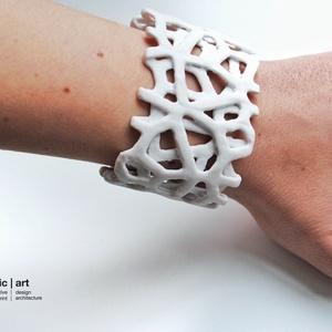 parametric art ' winter voronoi bracelet ' generatív 3D nyomtatott karkötő (parametricart) - Meska.hu