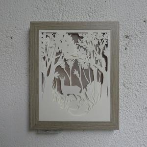 Erdőben - világító, dekoratív falikép (parapp) - Meska.hu