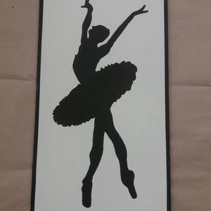 Tancoló balerina fali kép, Dekoráció, Otthon & lakás, Kép, Lakberendezés, Falikép, Famegmunkálás, Festészet, A termék mérete 65*48 cm, súlya 2 kg.\n\n8mm vastag mdf lapot mértre vágunk, alapozás után kiváló minő..., Meska