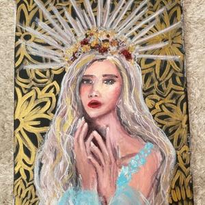 Az uralkodó nő, Művészet, Festmény, Akril, Festészet, Meska