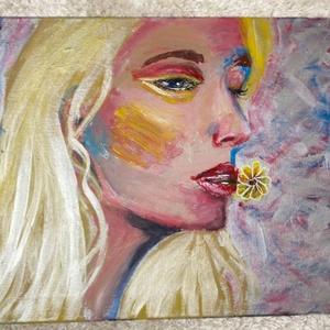 Aranyhaj, Művészet, Festmény, Akril, Festészet, Akril festmény, 40x50-es vászon\nEgyik nap hazértem és úgy éreztem akármennyi dolgom is lenne ma, nek..., Meska