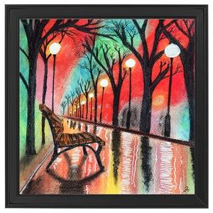 Colorful rain, Művészet, Festmény, Pasztell, Festészet, Pasztell, akril festék és grafit vegyes technikával készült.\nMérete: 23×23 cm\nAJÁNDÉK KÉPKERETTEL és..., Meska