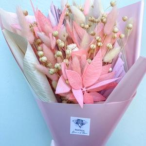 """Szárazvirág csokor (pink), Otthon & Lakás, Dekoráció, Csokor & Virágdísz, Virágkötés, 2021 legdivatosabb csokrai a szárazvirág csokrok. Miért fogod imádni?\n-akár \""""örökké\"""" megmarad hiszen..., Meska"""