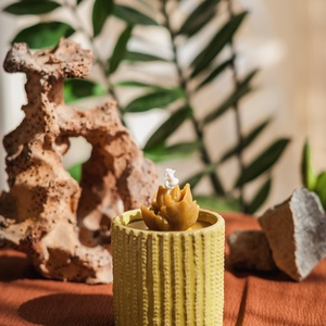 CACTUS GARDEN méhviaszgyertya hegyes levelű, Otthon & Lakás, Dekoráció, Gyertya & Gyertyatartó, Gyertya-, mécseskészítés, A cactus garden méhviaszgyertya csomag három gyertyából áll, melyeket a természet ihletett - azon be..., Meska
