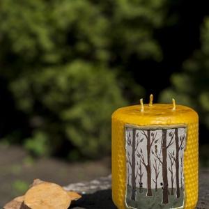 EARTH festett méhviaszgyertya 3 kanócos, Otthon & Lakás, Dekoráció, Gyertya & Gyertyatartó, Gyertya-, mécseskészítés, [100% méhviaszgyertya kézzel festve (akrilfesték)]\n\n~paraméterei: 10 cm x 8 cm\n\nA termékcsomagolás c..., Meska