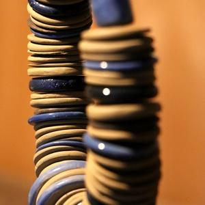 """Kerámia terrakotta \""""Blue Geisha\"""" nyakék., Képzőművészet, Otthon & lakás, Vegyes technika, Ékszer, Nyaklánc, Kerámia, Hihetetlenül dekoratív magával ragadó darab.\nA lánc hossza: 46 cm. A kapocsnál és a huroknál is ráha..., Meska"""