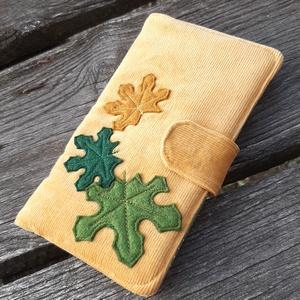 Levelek mustársárga színű kord irattartó és pénztárca , Táska, Divat & Szépség, Táska, Pénztárca, tok, tárca, Pénztárca, A mai világban rengeteg kártyával, cédulával, kuponfüzettel és egyebekkel tömnek minket. Hogy legyen..., Meska