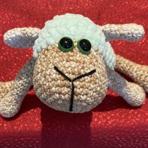 Amigurumi plüss bárány, Más figura, Plüssállat & Játékfigura, Játék & Gyerek, Horgolás, Saját készítésű horgolt amigurumi plüss bárány. Pamut és plüss fonalból készült. Biztonsági szemekke..., Meska
