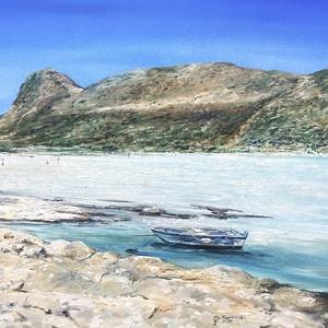 Eredeti, egyedi olajfestmény, címe: Balos Beach, Görögország, Olajfestmény, Festmény, Művészet, Festészet, Szereted a mediterrán tengerpartot? Elvarázsolnak a türkizek? Neked készült ez a Görög tengeri csodá..., Meska