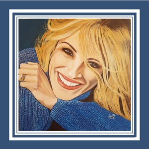 Julia Roberts, Művészet, Festmény, Akril, Festészet, Micsoda nő!\nHarmadik porté festményem 50 x 50 cm-es feszített vászonra, akrillal festve.\nNincs beker..., Meska