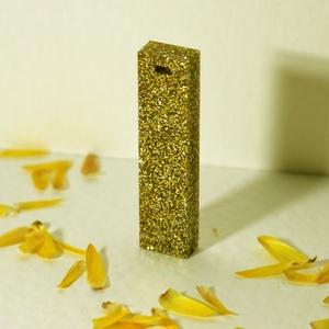 Aranyszín medál, Ékszer, Nyaklánc, Medál, Ékszerkészítés, Mindenmás, Csillogó, aranyszín medál, epoxi és aranycsillám felhasználásával készült. Kérésre más formában is s..., Meska