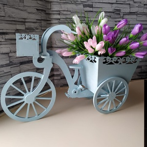Biciklis virágtartó, Otthon & Lakás, Dekoráció, Virágtartó, Famegmunkálás, Festett tárgyak, Egy igazán egyedi ajándék magadnak, vagy bárkinek, aki szereti a virágokat és a kreatív megoldásokat..., Meska