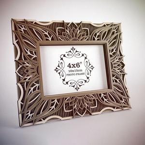 Mandala képkeret 15 x 10 cm-es fotónak - Meska.hu