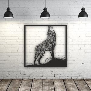 Farkas mintájú fali kép fából, Otthon & Lakás, Dekoráció, Kép & Falikép, Famegmunkálás, Festett tárgyak, Meska