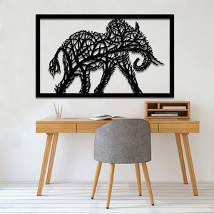 Elefánt fali kép, Otthon & Lakás, Dekoráció, Kép & Falikép, Famegmunkálás, Festett tárgyak, Gyönyörű, egyedi, elefántot ábrázoló fali kép, 6 mm vastag rétegelt fából készül :) Eltérő színben i..., Meska