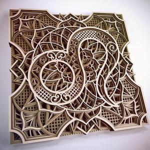 Mandala csillagjegy, Oroszlán, Otthon & Lakás, Dekoráció, Falra akasztható dekor, Famegmunkálás, Festett tárgyak, Meska