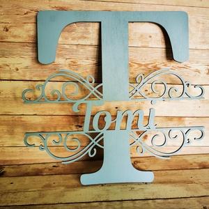 Egyedi név, névtábla, családnév, felirat, Otthon & Lakás, Dekoráció, Felirat, Famegmunkálás, Festett tárgyak, Meska