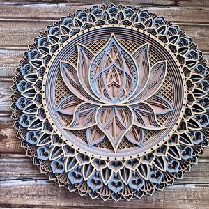 Mandala lótusz virág #2 - Meska.hu