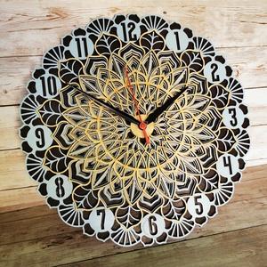 Mandala falióra, Otthon & Lakás, Dekoráció, Falióra & óra, Famegmunkálás, Festett tárgyak, Meska
