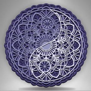 Yin Yang Mandala fali dísz, Otthon & Lakás, Dekoráció, Falra akasztható dekor, Famegmunkálás, Festett tárgyak, Meska