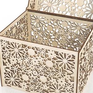 Virágmintás nászajándék gyűjtő doboz, Esküvő, Emlék & Ajándék, Doboz, Festett tárgyak, Famegmunkálás, Meska