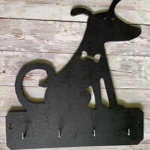 Kutyusos fali kulcstartó, Otthon & Lakás, Bútor, Kulcstartó szekrény, Festett tárgyak, Famegmunkálás, Meska