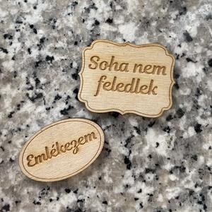 Kegyeleti felirat (kicsi) - Meska.hu