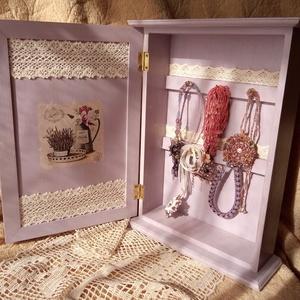 Levendulás kulcstartó vagy ékszer tartó szekrényke - táska & tok - kulcstartó & táskadísz - kulcstartó - Meska.hu