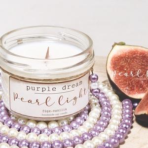 Purple Dream szójagyertya 120 ml, Otthon & Lakás, Dekoráció, Gyertya & Gyertyatartó, Gyertya-, mécseskészítés, A zamatos friss füge és vanília izgalmas találkozása.\n\n100% természetes szójaviasz, -illatolajok val..., Meska